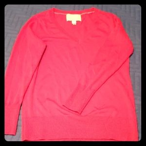 Red BR vneck sweater